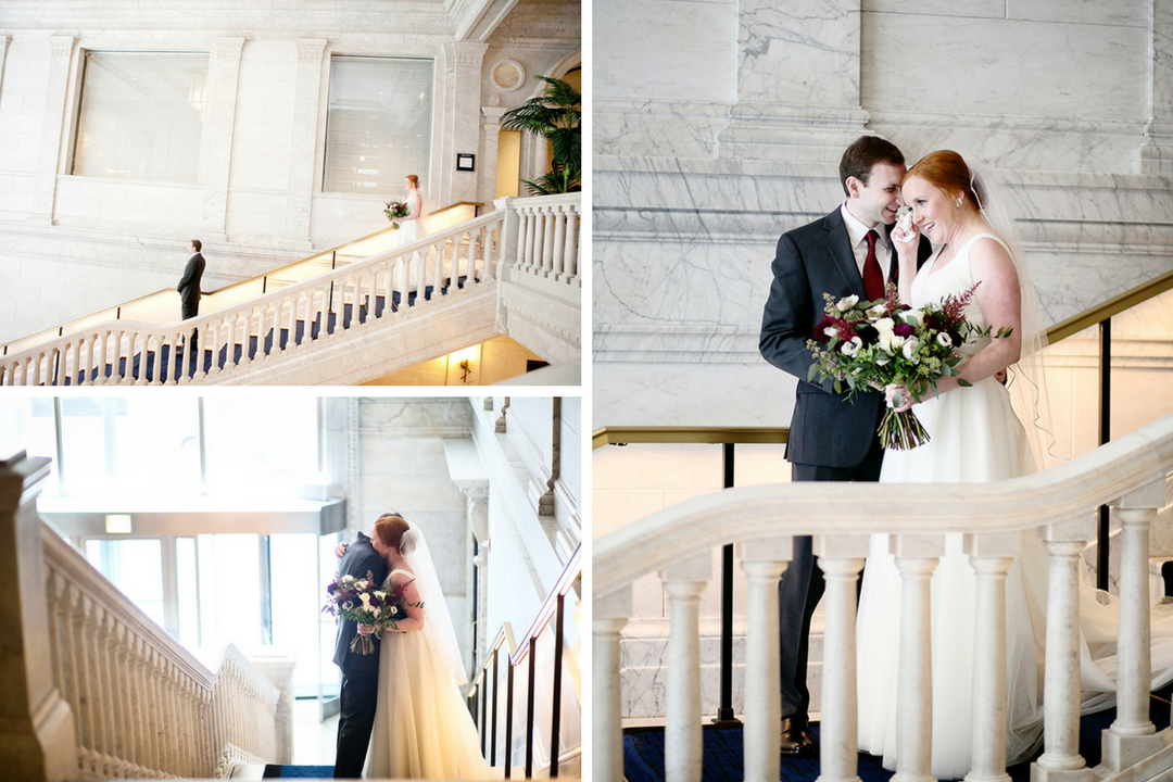 Kimpton Gray Hotel wedding first look