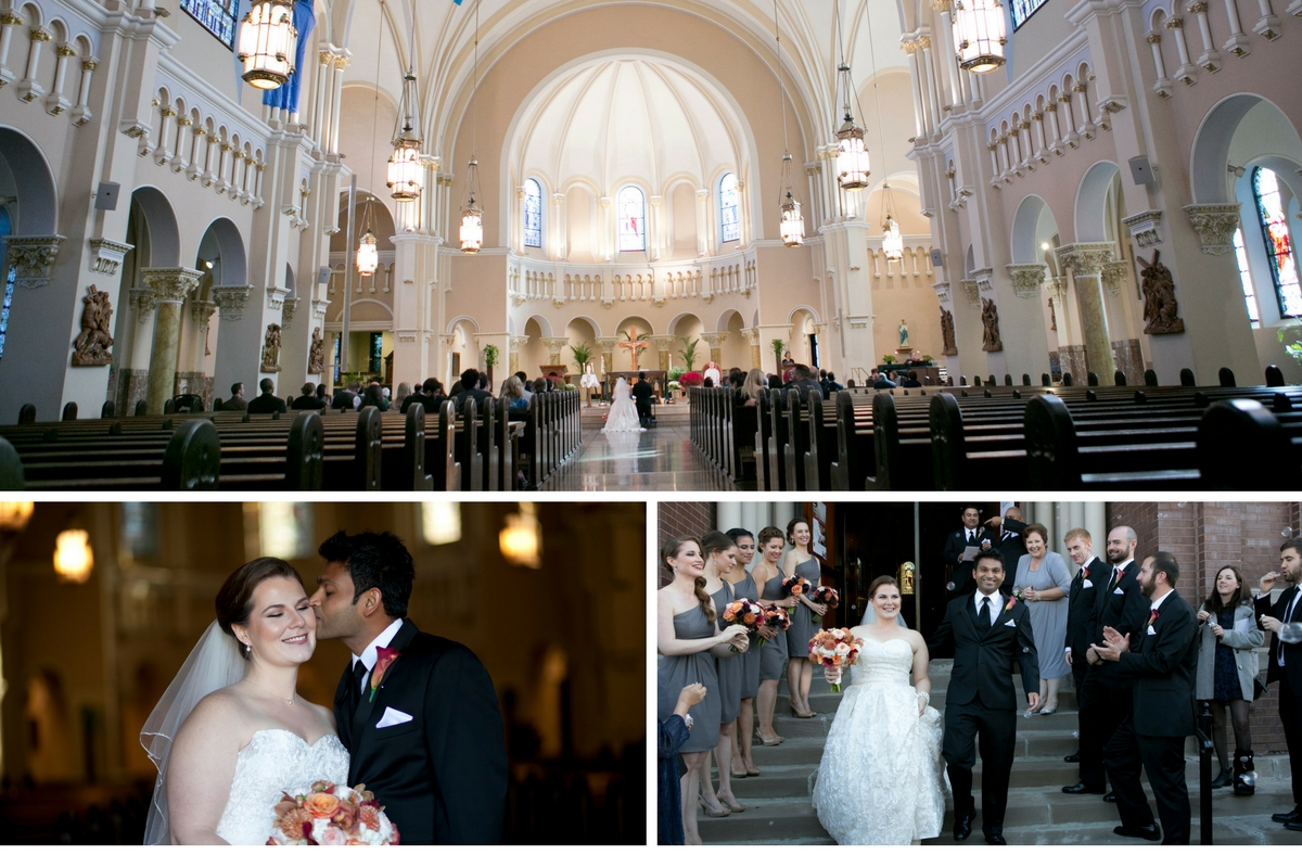 Wedding ceremony at St. Benedict Parish Chicago