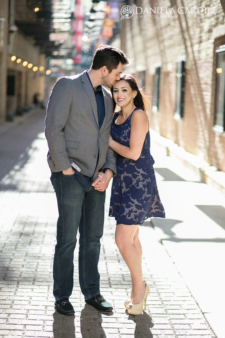 Chicago theater Engagement Photography Session